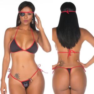 Mini Fantasia Pimentinha Pirata Pimenta Sexy - Sexshop