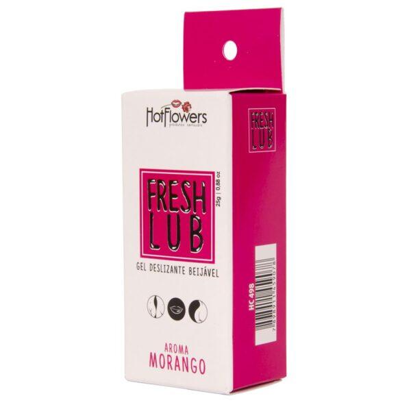 Lubrificante Beijável Fresh Lub Morango HotFlowers - Sex shop