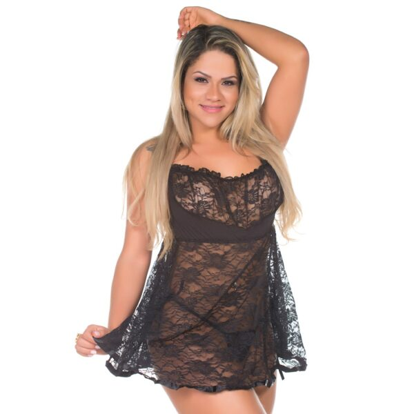 Camisola Sexy Juliana Preta Pimenta Sexy - Camisola Sensual