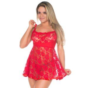 Camisola Sexy Juliana Vermelha Pimenta Sexy - Camisola Sensual