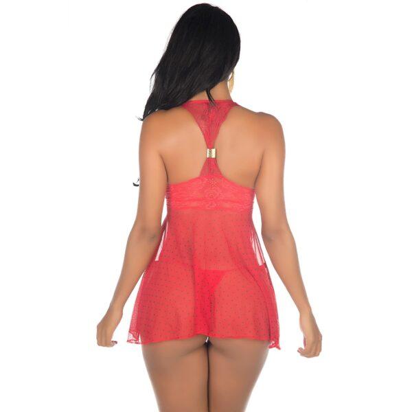 Camisola Sensual, Camisola Sexy Safira Vermelha Pimenta Sexy