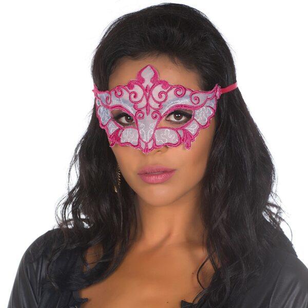 Mascara Sensual Pink e Branco 50tons de Cinza Pimenta Sexy - Sex shop