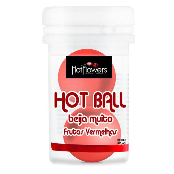 Bolinha Beija Muito Frutas Vermelhas 2 Unidades HotFlowers - Sexshop