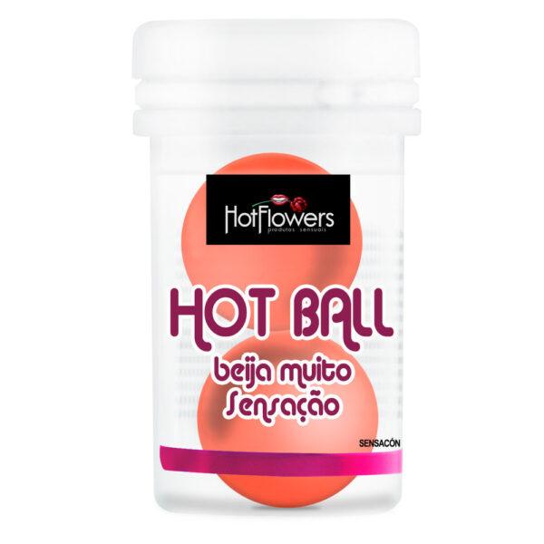 Bolinha Beija Muito Sensação 2 Unidades HotFlowers - Sexshop