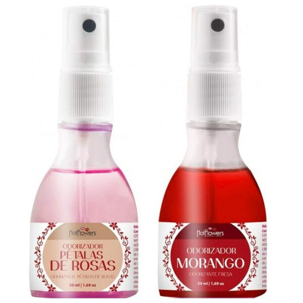 Kit 03 Odorizador Ambientador Perfume Rosas 50ml Hot Flowers - Sex shop