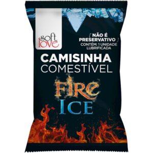 Camisinha Fire Ice Solúvel Soft Love - Sexy shop