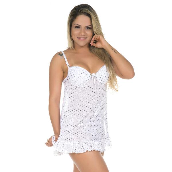Camisola Sensual Musa Branca Pimenta Sexy - Camisola Sexy