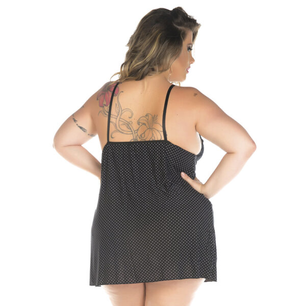 Camisola Plus Size Doçura Preta Pimenta Sexy - Sexshop