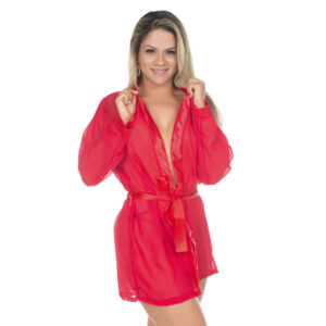 Camisola Robe ROMÂNTICO Vermelho PIMENTA SEXY - Camisola Sexy
