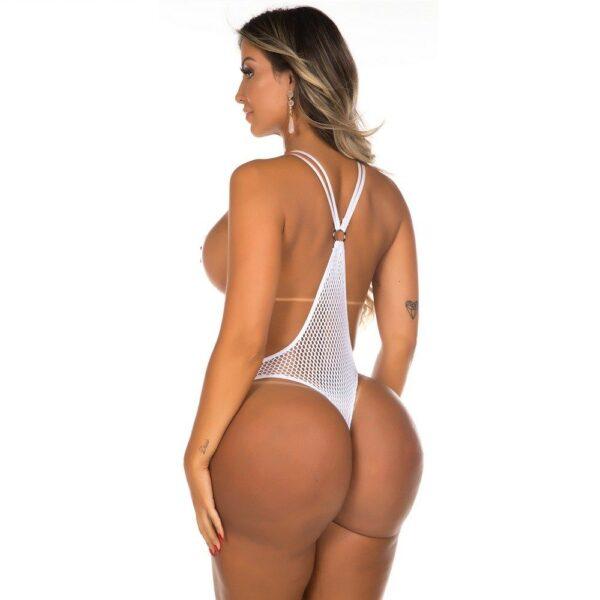 Body Erotico Radiante Branco Pimenta Sexy
