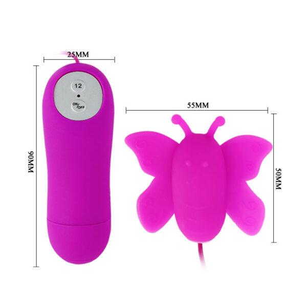 Vibrador Bullet Borboleta Silicone com 12Velocidades - Sexshop