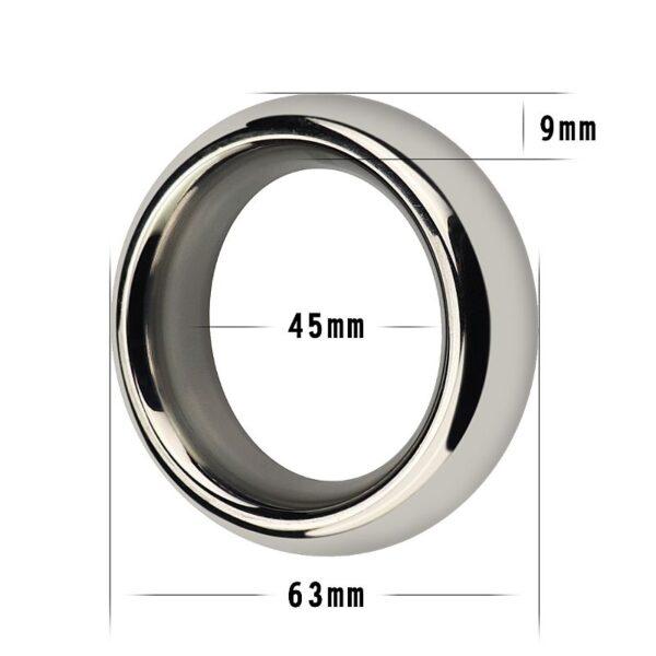 Anel Peniano Aço inoxidável Luxo 4,5 cm - Sexshop