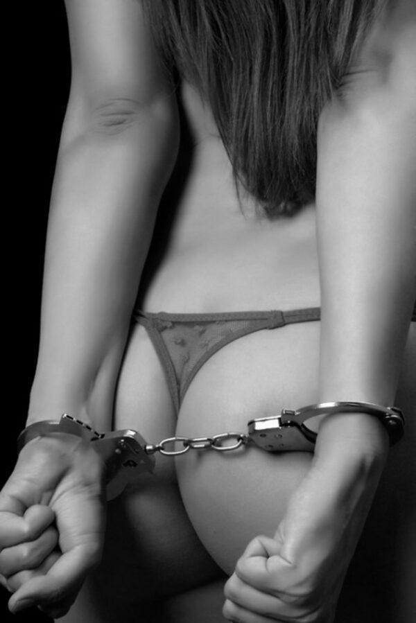 Algema de Metal Preta - BDSM - Sexy shop