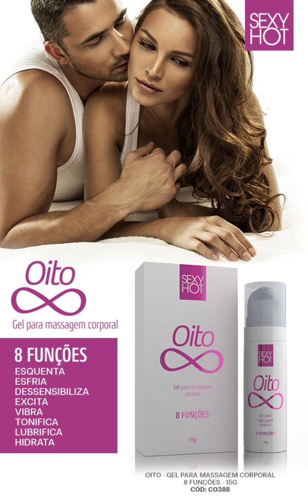 OITO - Gel para massagem oito funções 15g - Sex shop