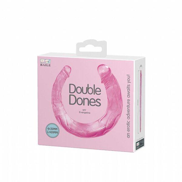 Pênis duas pontas uma fina e outra maior Dildo - Double Dones II - Baile - Sex shop