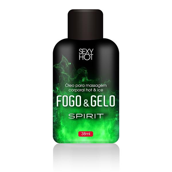 Óleo para massagem beijável FOGO E GELO - Spirit - Sexshop