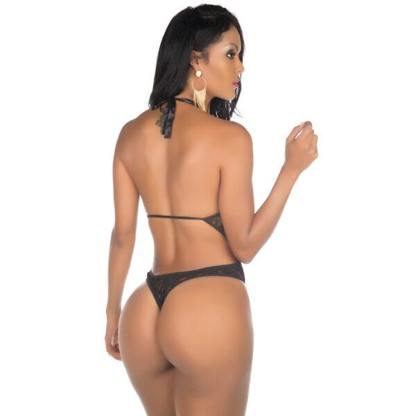 Lingerie, Body Sexy Angel Preto Pimenta Sexy