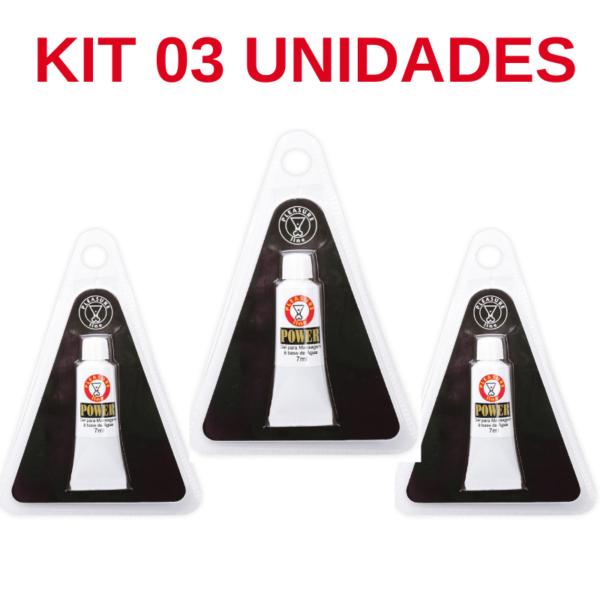 Kit 03 Unidade Power Gel Funcional Masculino prolongar ereção 7ml Pleasure Line