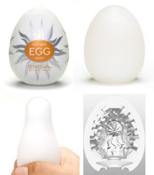 Caixa com 6 Masturbadores Tenga Egg - SHINY - Sexshop