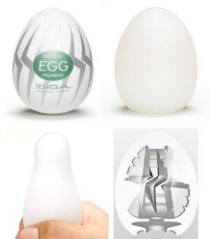 Caixa com 6 Masturbadores Tenga Egg - THUNDER - Sexshop