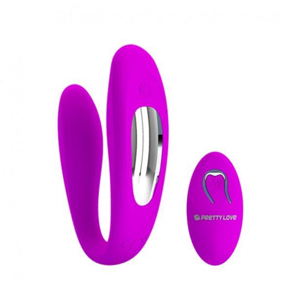 Vibrador Para Casais com 12 Modos de Vibração e Controle Wireless - PRETTY LOVE LETITIA - Sexshop