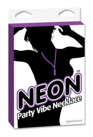 Colar com cápsula - NEON PARTY VIBE NECKLACE PURPLE - PIPEDREAM - Sexshop-0