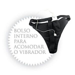 Calcinha com vibrador em Vinil - Power Panty Vermelho - Sexshop
