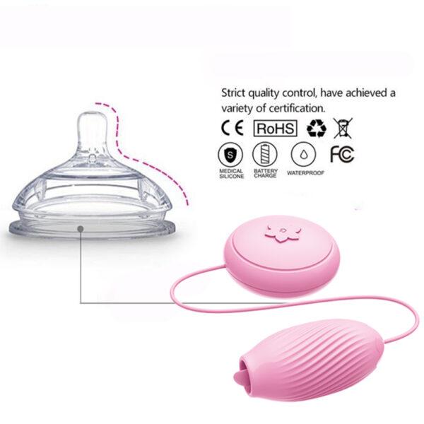 Estimulador Vibrador de Língua com 7 vibrações e movimento