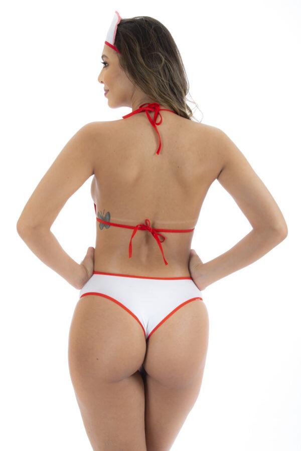 Fantasia Body Arrastão Médica Pimenta Sexy - Sex shop