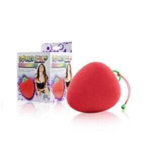 Esponja para Banho com Vibrador - Morango - Sexshop