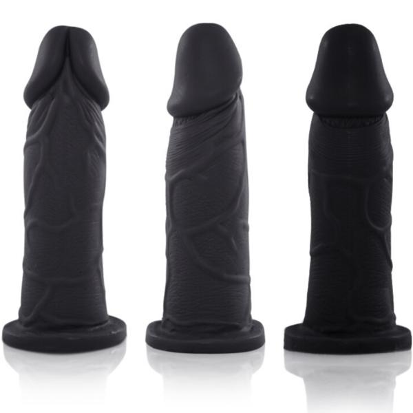 Pênis Real Peter com Cinta Notável - Preto - 3,5x13cm - Sex Shop