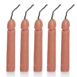 Jogo de 5 velas em formato pênis - Sex Shop-0
