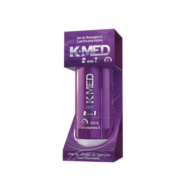 Gel de Massagem e Lubrificante Íntimo 2 em 1 Joy 200ml K-MED - Sexshop