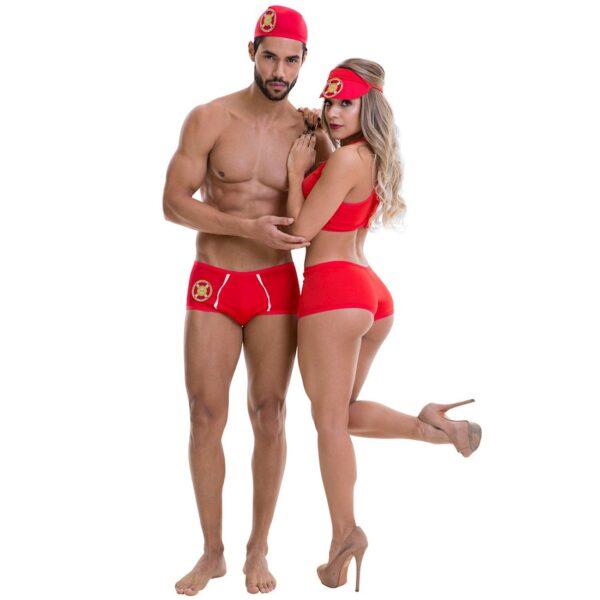Kit Fantasia Masculina Salva Vidas Sapeka - Sex shop