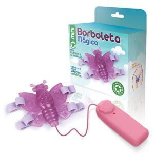 Vibrador Borboleta mágica rosa com Cinta - Sex shop