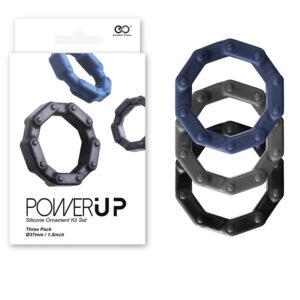 Anéis Penianos de Silicone - Power Up NANMA - 3 Unidades - Sexshop