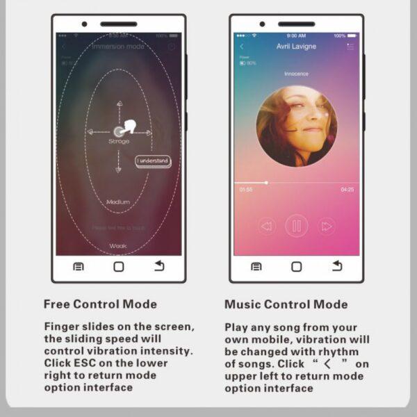Bola Pompoar Kegel com 12 vibrações controladas via App de Smartphone - Elvira Pretty Love