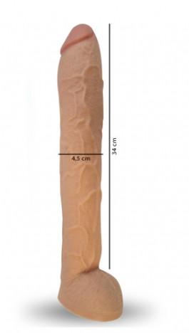 Pênis Real Peter Hard GRANDE 5,5 x 34 cm - Sexshop