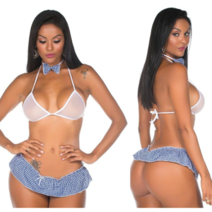 Kit Fantasia Colegial Pimentinha Pimenta Sexy - Sexshop