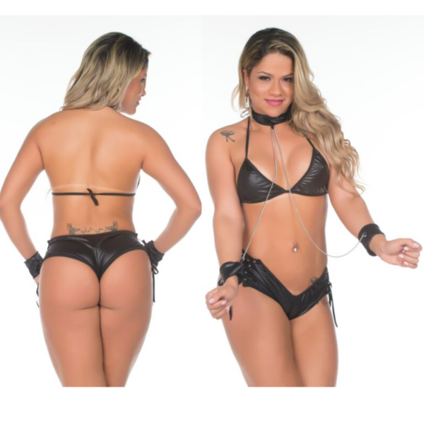 Fantasia Luxo Escrava do Prazer Pimenta Sexy - Sexshop
