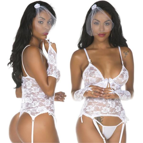 Fantasia Noiva Body Pimenta Sexy - Sexshop