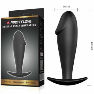 Plug Anal Silicne em Formato de Pênis - Pretty Love - Sex shop