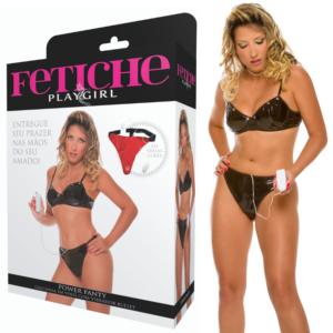 Calcinha Vibradora em vinil - Power Panty Oncinha - Sexshop