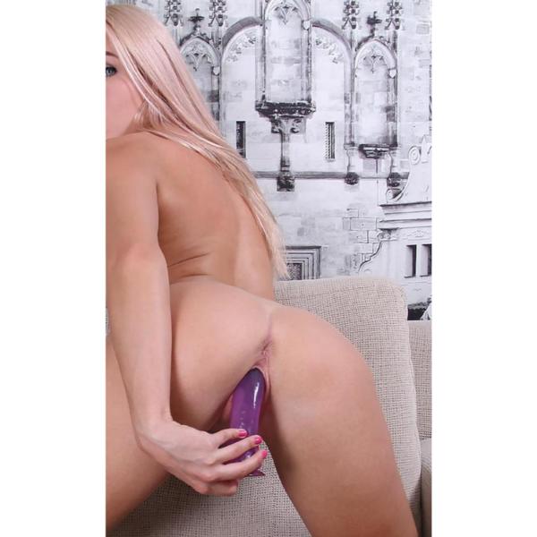 Pênis realístico em Jelly macio na cor rosa com vibrador - Sexyshop