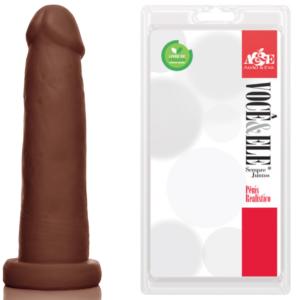 Pênis Realístico Prótese 6 Marrom - Sexshop