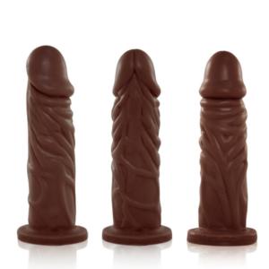 Pênis Real Peter Realístico Enrugado Marrom 14x3,8 cm - SexShop
