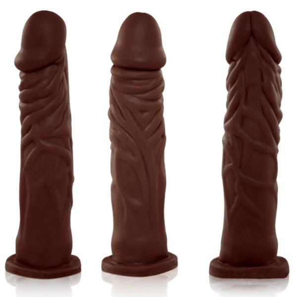 Pênis Real Peter Realístico com Cinta Marrom - 19x3,8cm - Sex Shop
