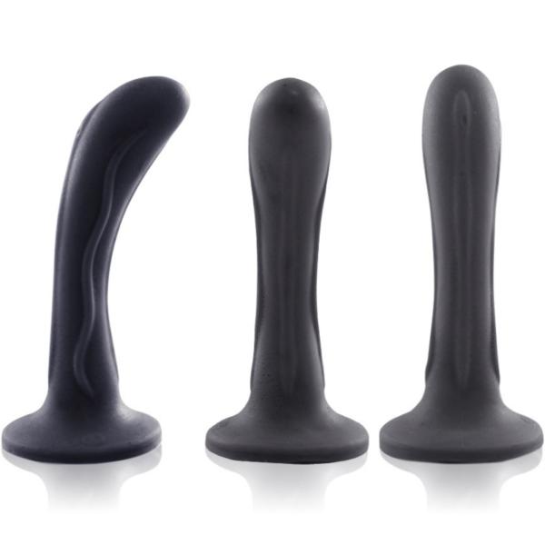 Plug Anal Curvo Passion 14x2,5cm Preto - Sex shop