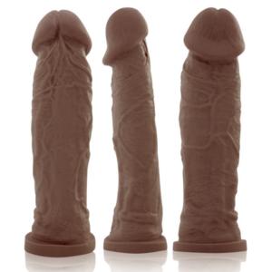 Pênis Grosso Real Peter Charmoso 20x5cm Marrom - Sexshop