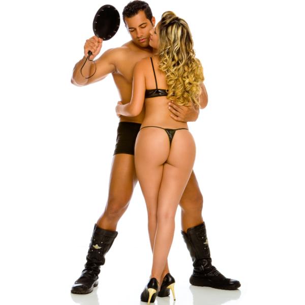 Chibata Palmatória com rebites 32cm - Sexshop